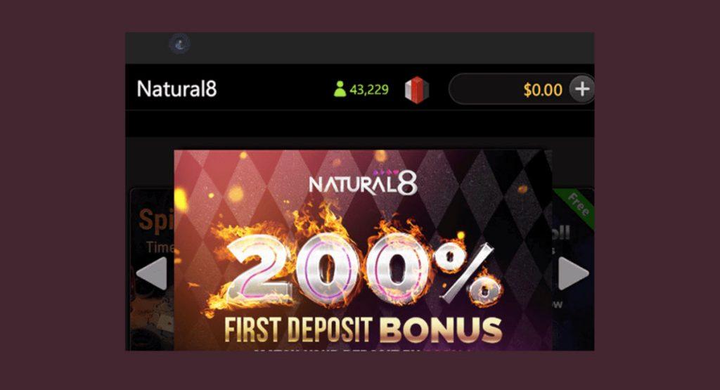 Natural8 offers cashbacks